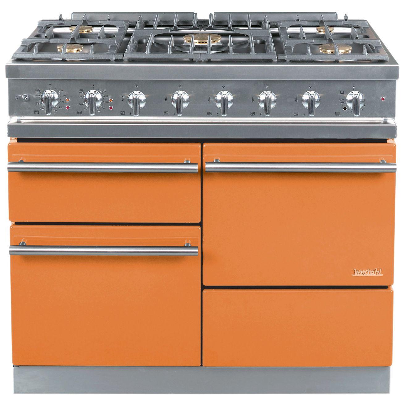 Westahl Macon WG1053GECT Dual Fuel Cooker, Mandarin at John Lewis