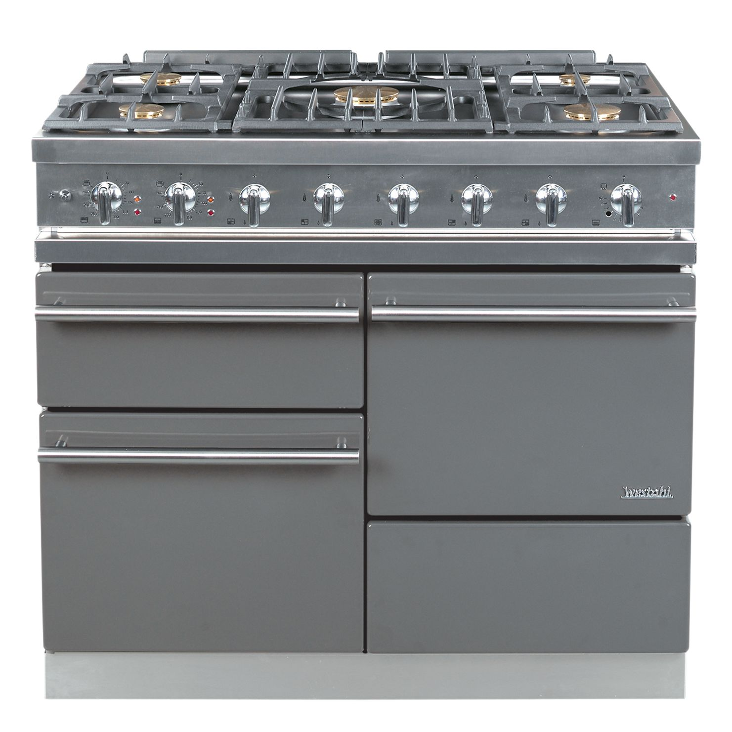 Westahl Macon WG1053GECT Dual Fuel Cooker, Stainless Steel at John Lewis