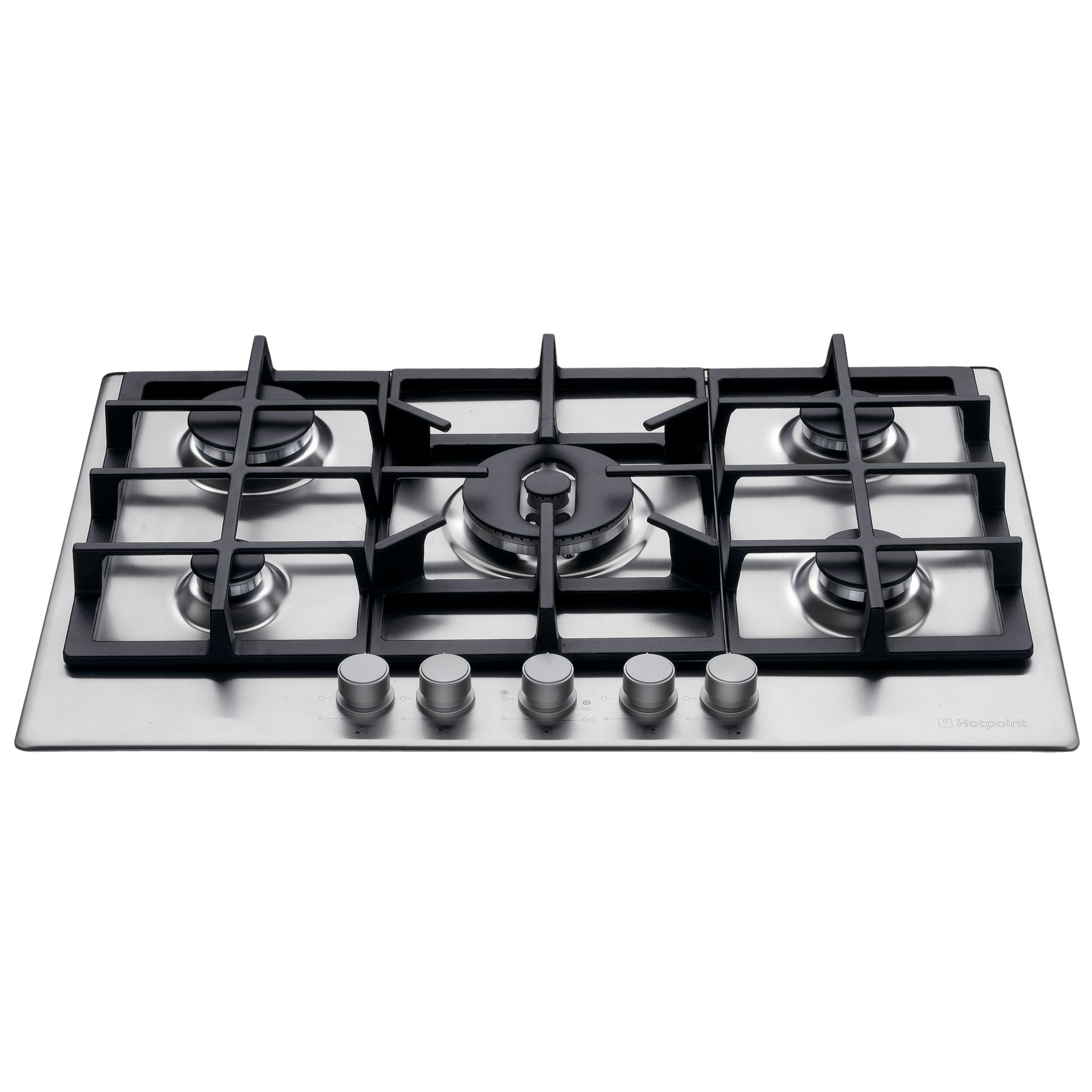 Hotpoint GE750DX Gas Hob, Stainless Steel at John Lewis