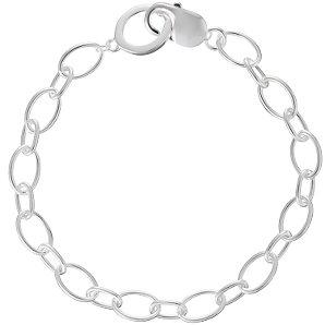 Jou Jou Sterling Silver 2-Size Links Charm Bracelet