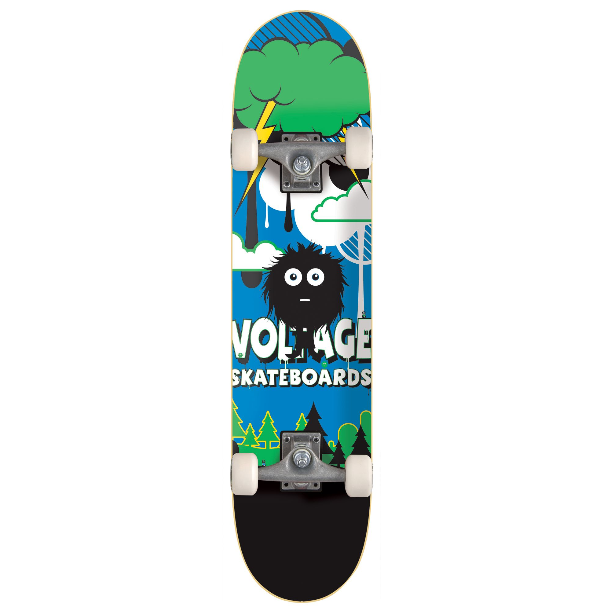 Stateside Little Monsta Hairy Skateboard, Assorted colours