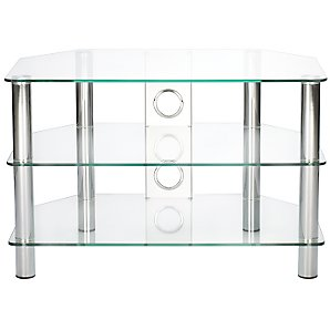 JL600/3CC Television Stand, Clear Glass