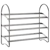 3-Tier Shoe Rack, Chrome