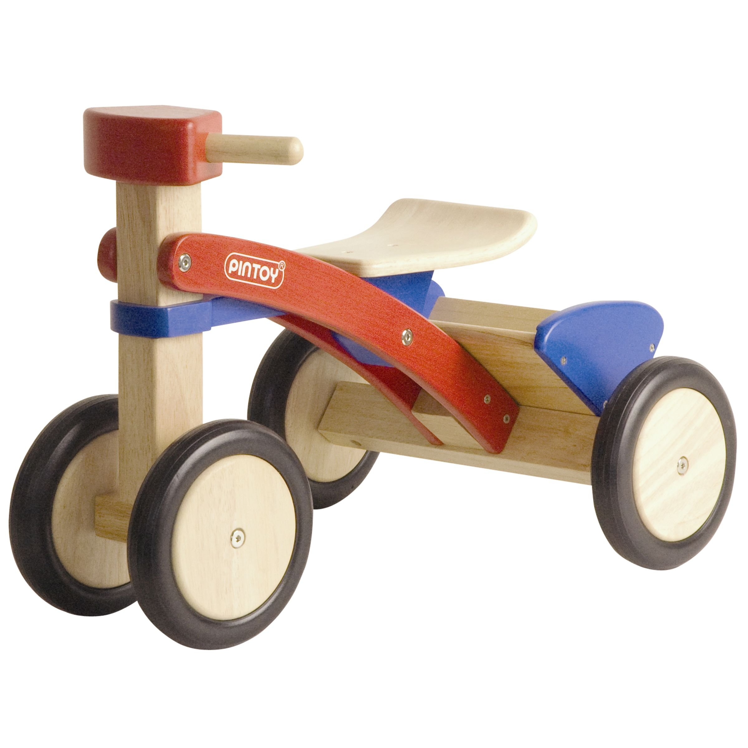 Pin Toys Pick-Up Wooden Tricycle, Red