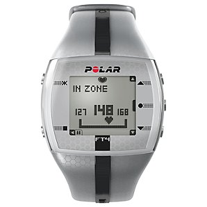 F4 Mens Heart Rate Monitor, Silver