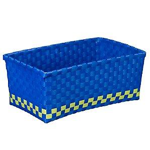 Woven Basket, Blue