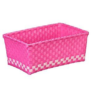 Woven Basket, Pink