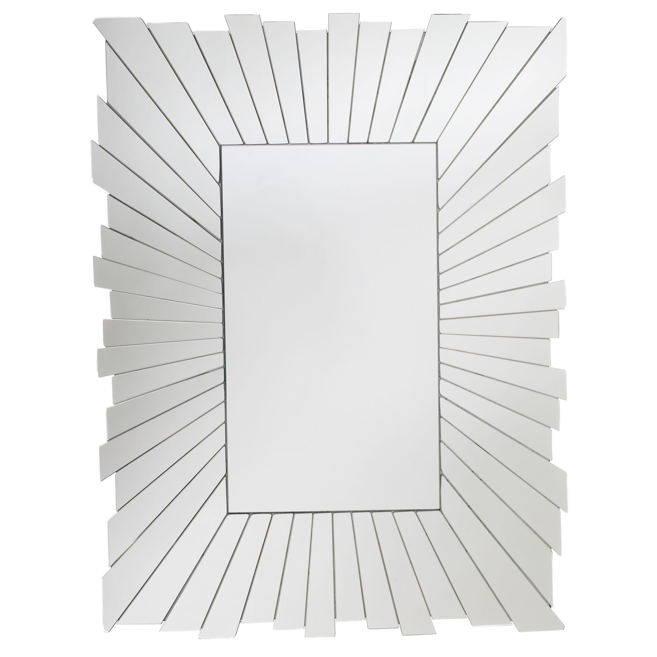 Sunray Rectangular Mirror, H80xW61cm at John Lewis