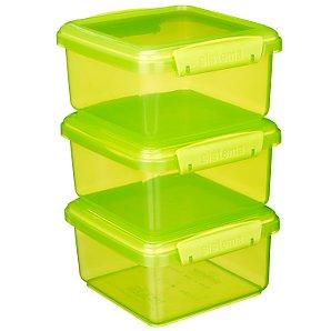 Klip-It Bright Green Storage Boxes, Set of 3