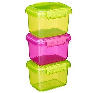 Klip-It Bright Coloured Storage Boxes, Set of 3, 400ml