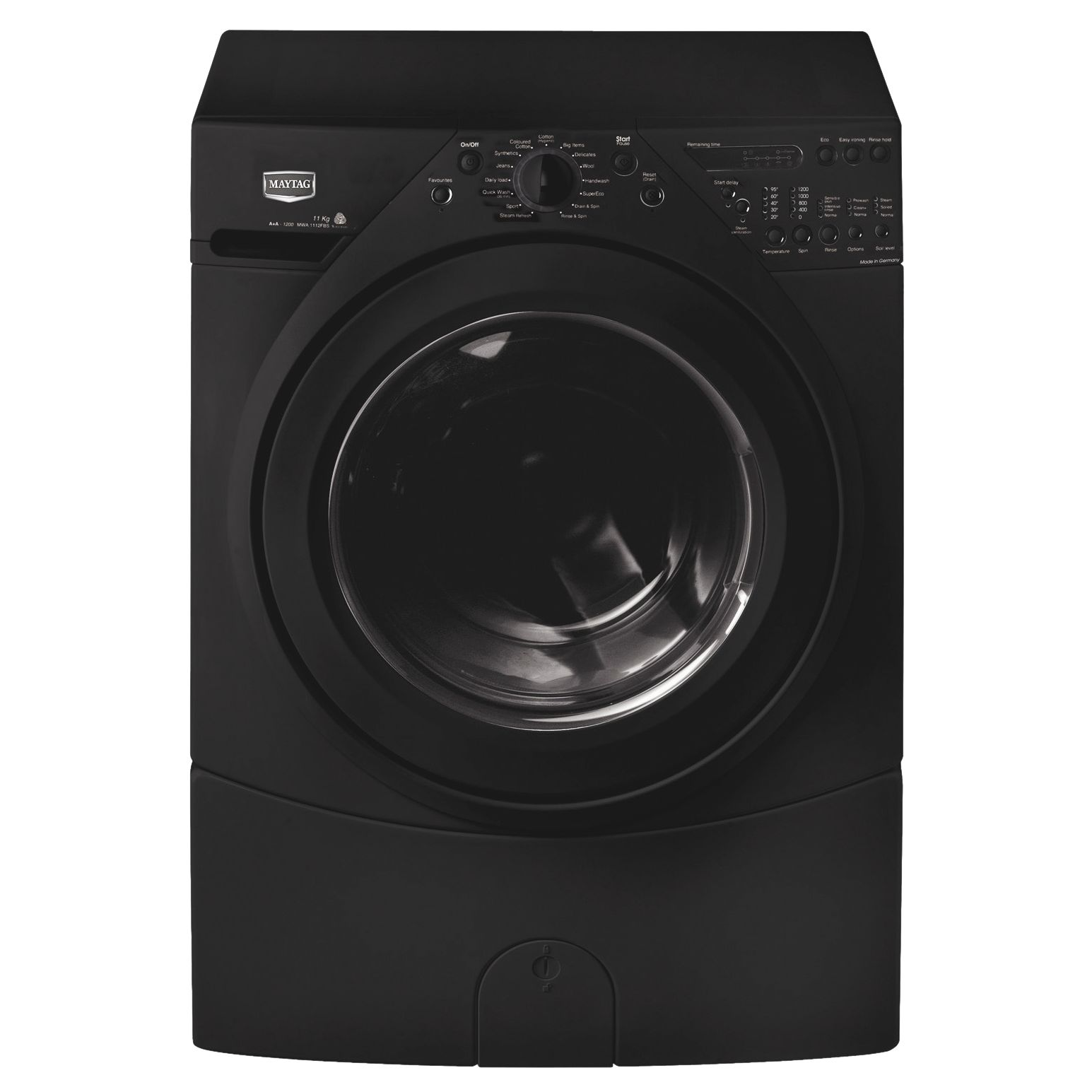 Maytag MWA1112FBS Washing Machine, Black