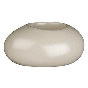 John Lewis Ceramic Pebble Tealight Holder, Mocha