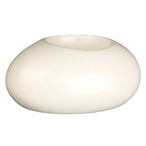 John Lewis Ceramic Pebble Tealight Holder, Oyster