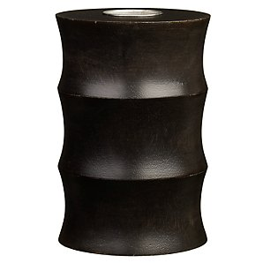 Dark Ribbed Tealight Holder