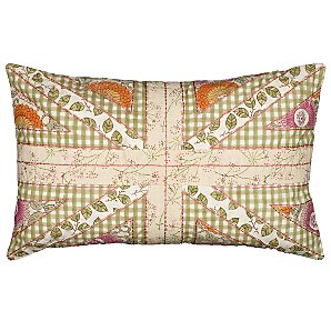 Patchwork Union Jack Cushion in Cream