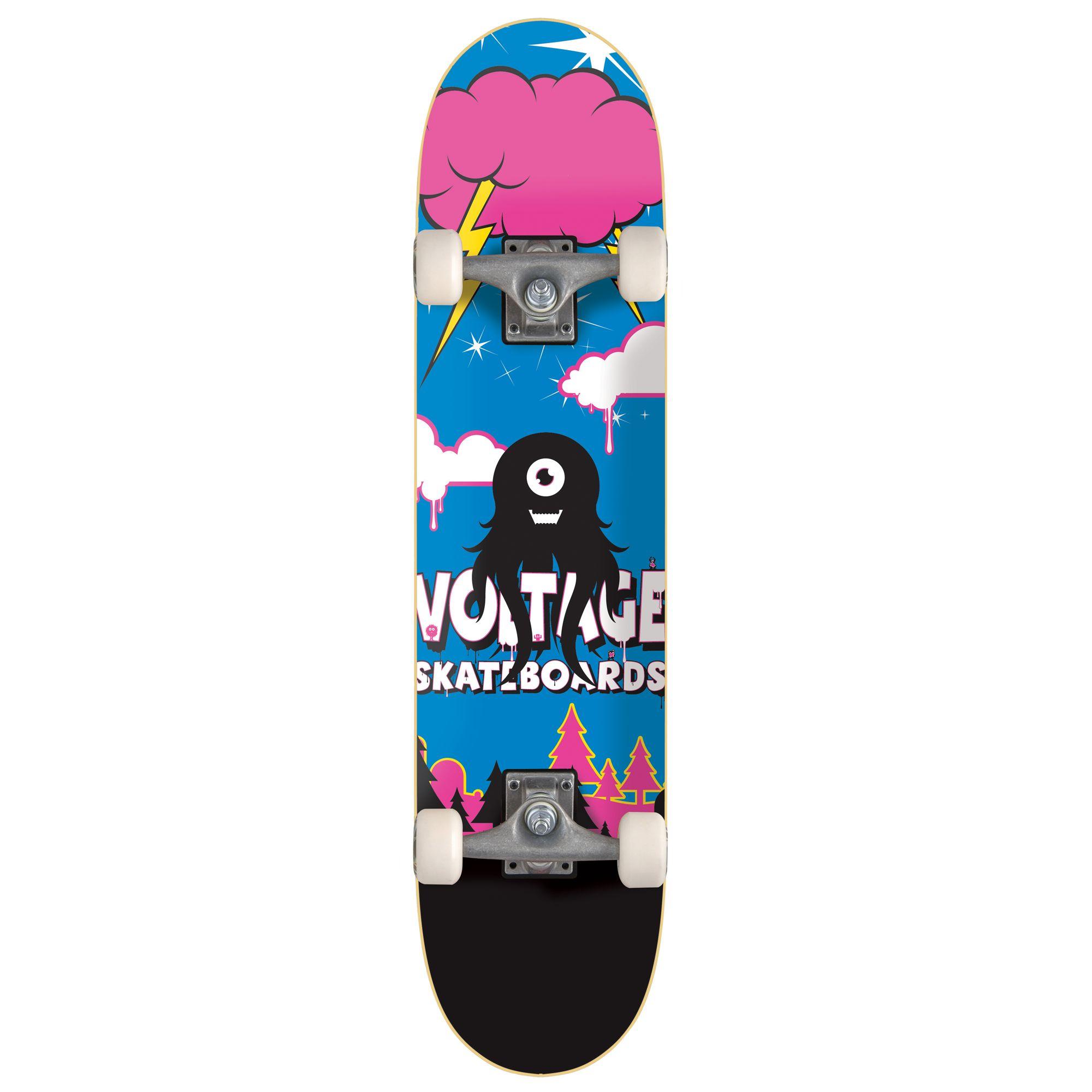 Stateside Skates Little Monsta Squid Skateboard, Multicoloured