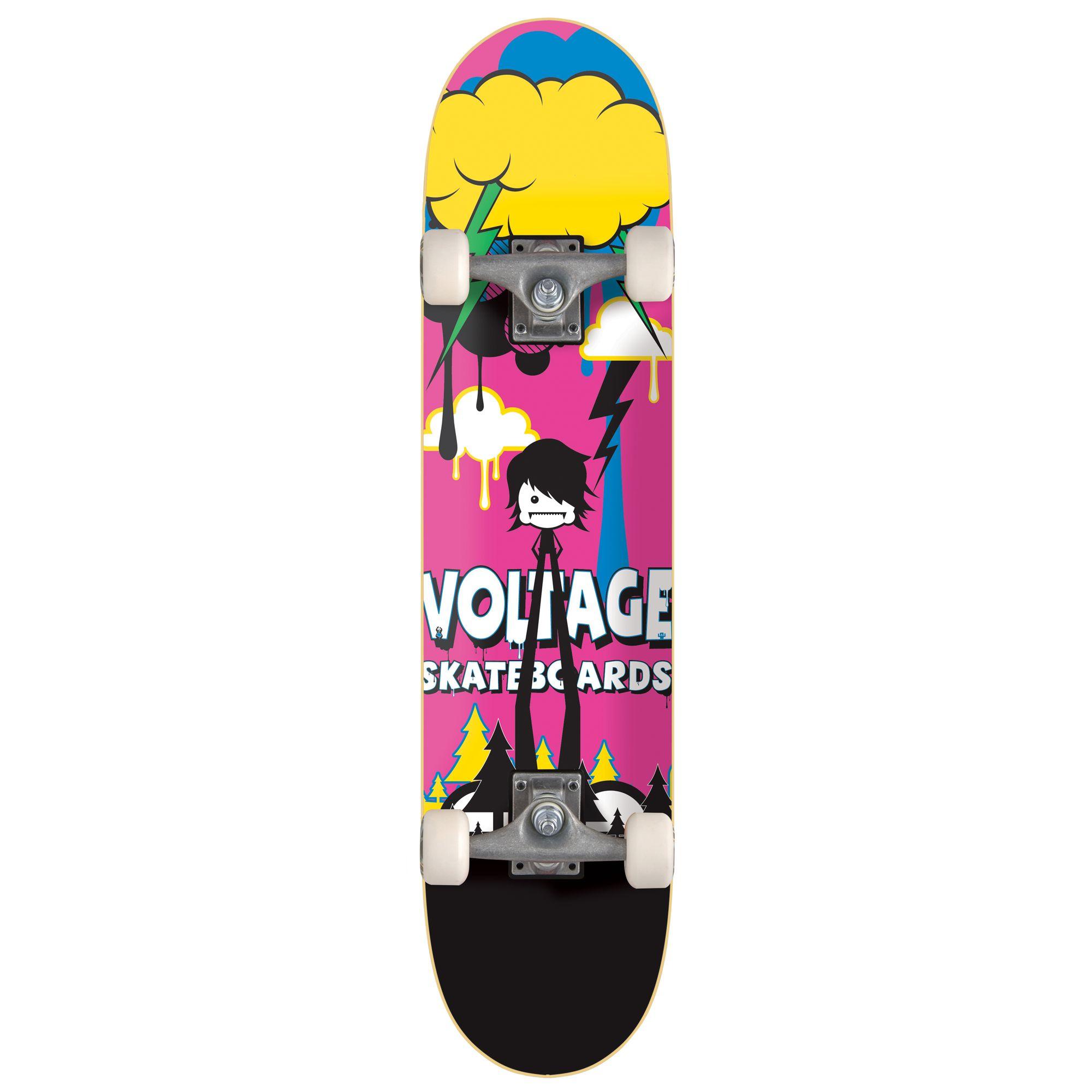 Stateside Skates Little Monsta Emo Skateboard, Multicoloured