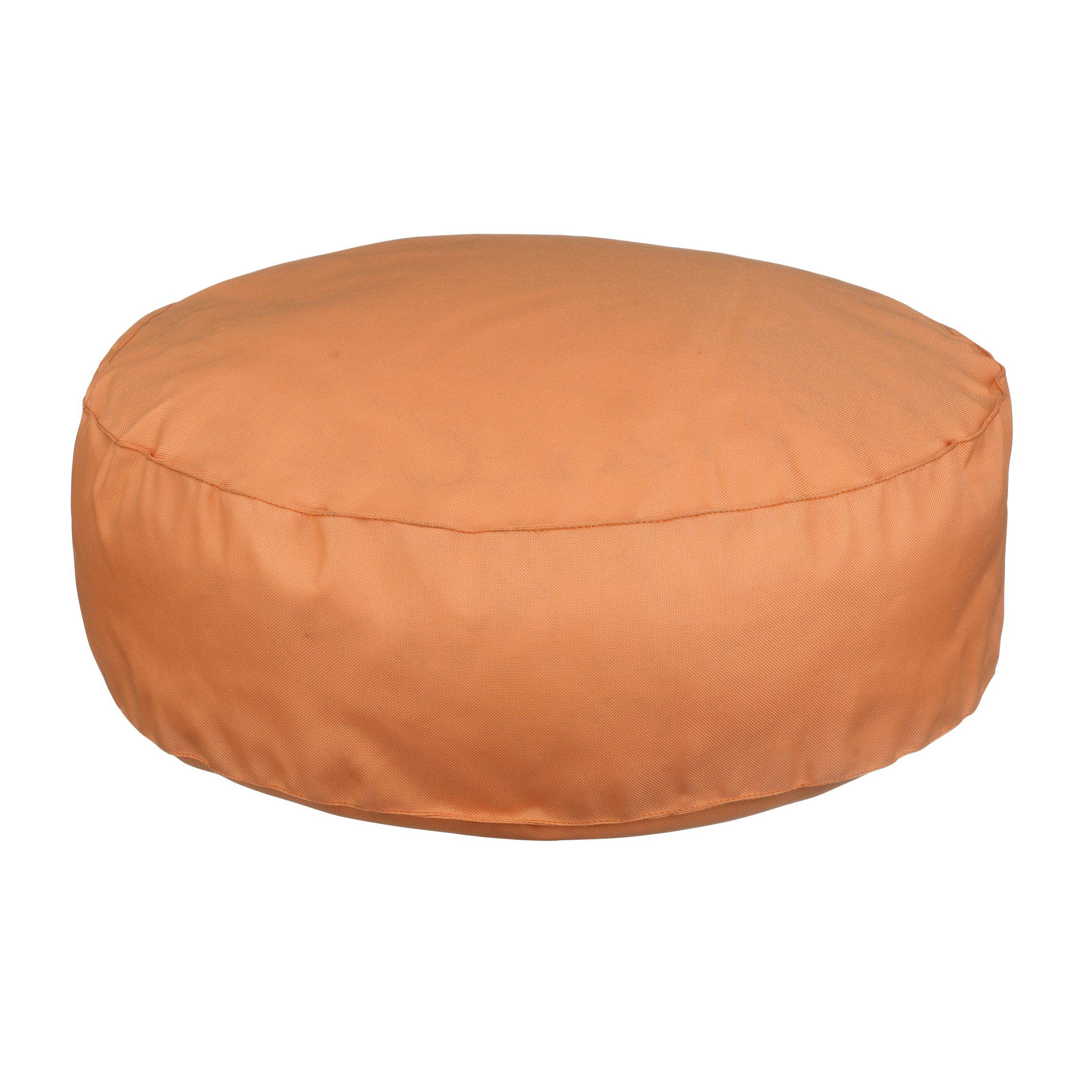 John Lewis Small Round Beanbag, Pumpkin, Dia. 50cm
