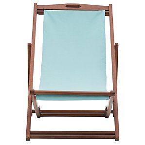John Lewis Value Deckchair, Pale Kingfisher