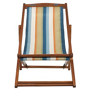 John Lewis Value Deckchair, Forage Stripe