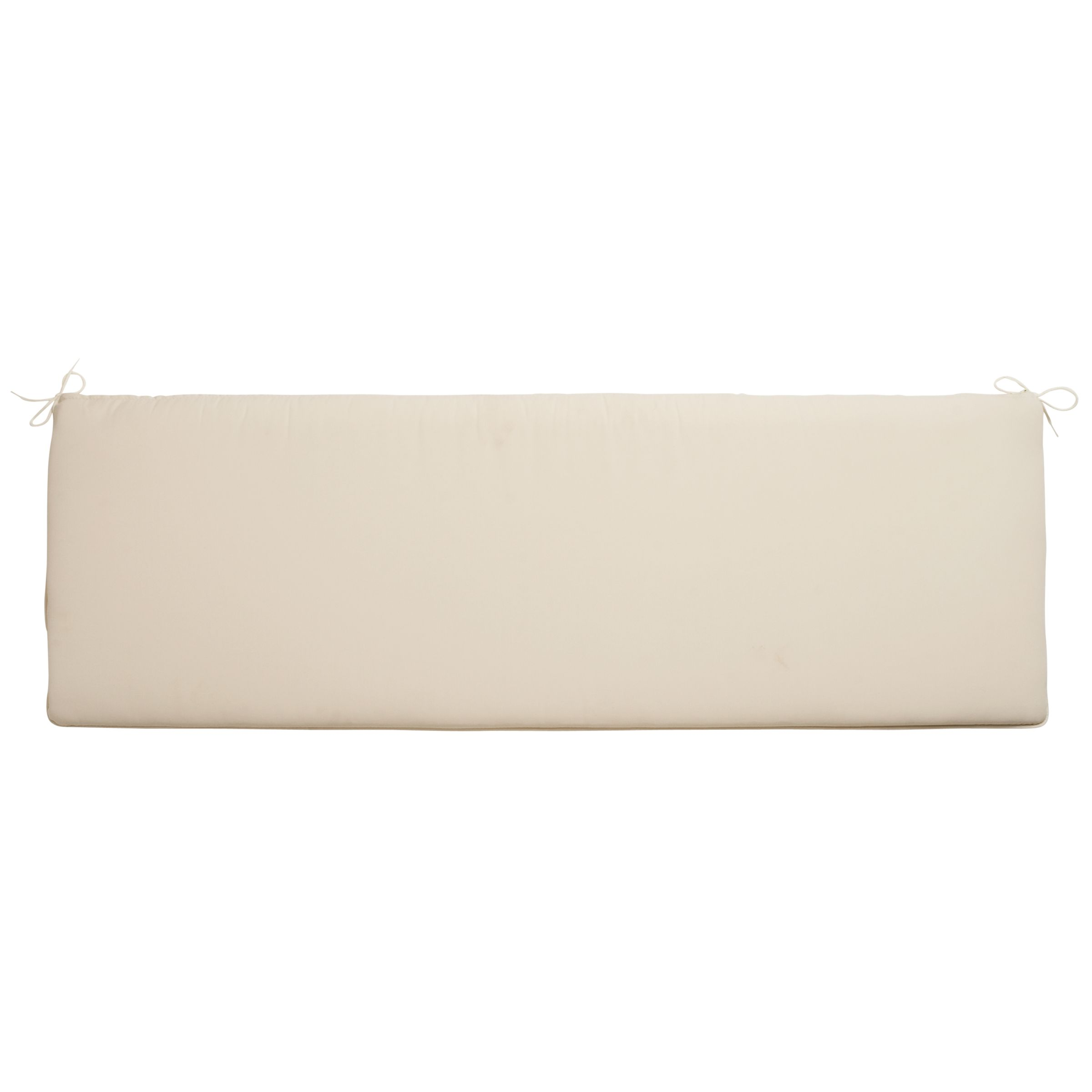 John Lewis Ripley Bench Cushion, Natural