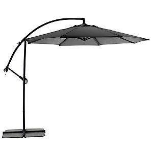 Freestanding Garden Parasol, Black