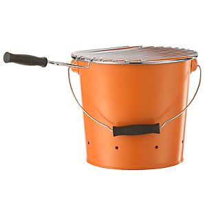 John Lewis Bucket Charcoal BBQ, Pumpkin