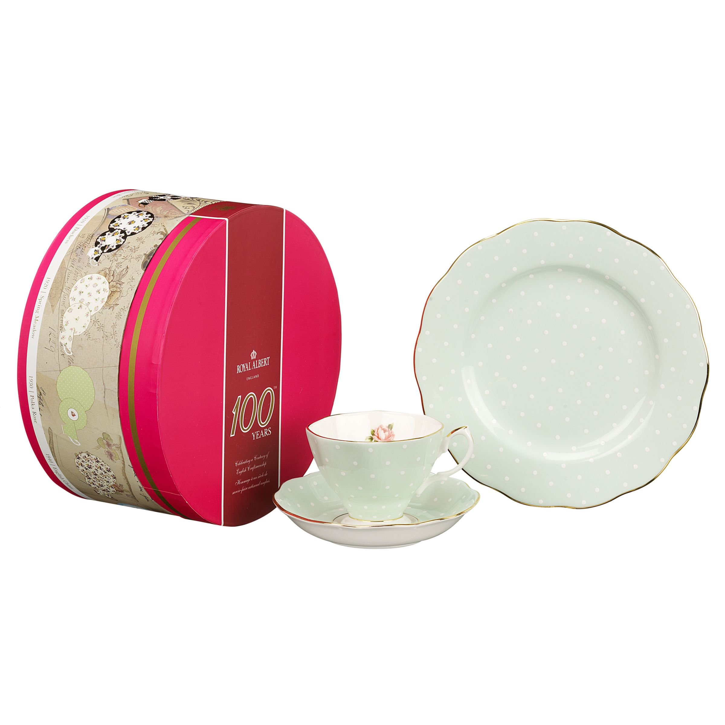 Royal Albert Polka Rose Tea Set