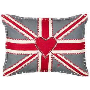 Patchwork Union Jack Cushion by Jan Constantine