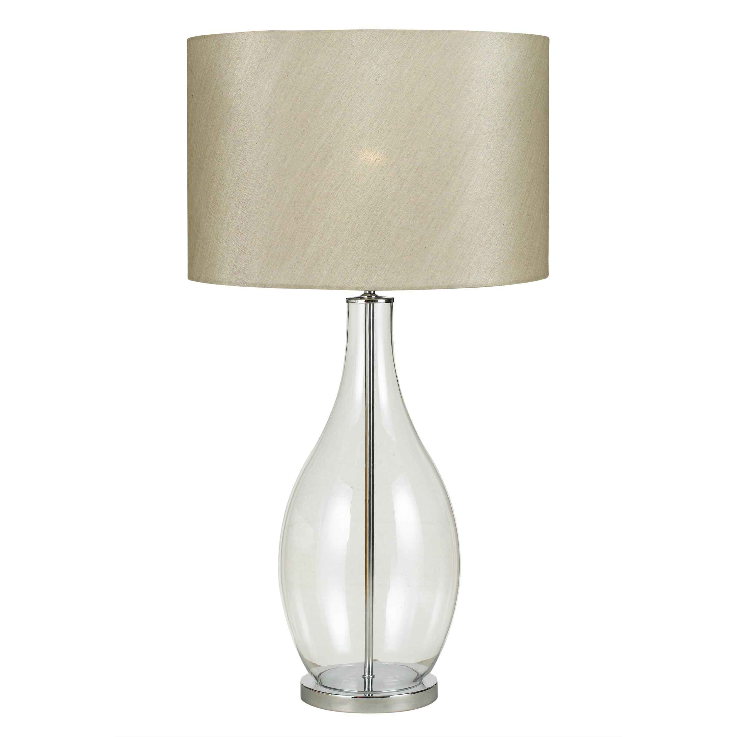 john lewis gina table lamp clear glass review compare prices buy. Black Bedroom Furniture Sets. Home Design Ideas