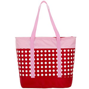 John Lewis Family Picnic Tote Cooler Bag, Dotty Red