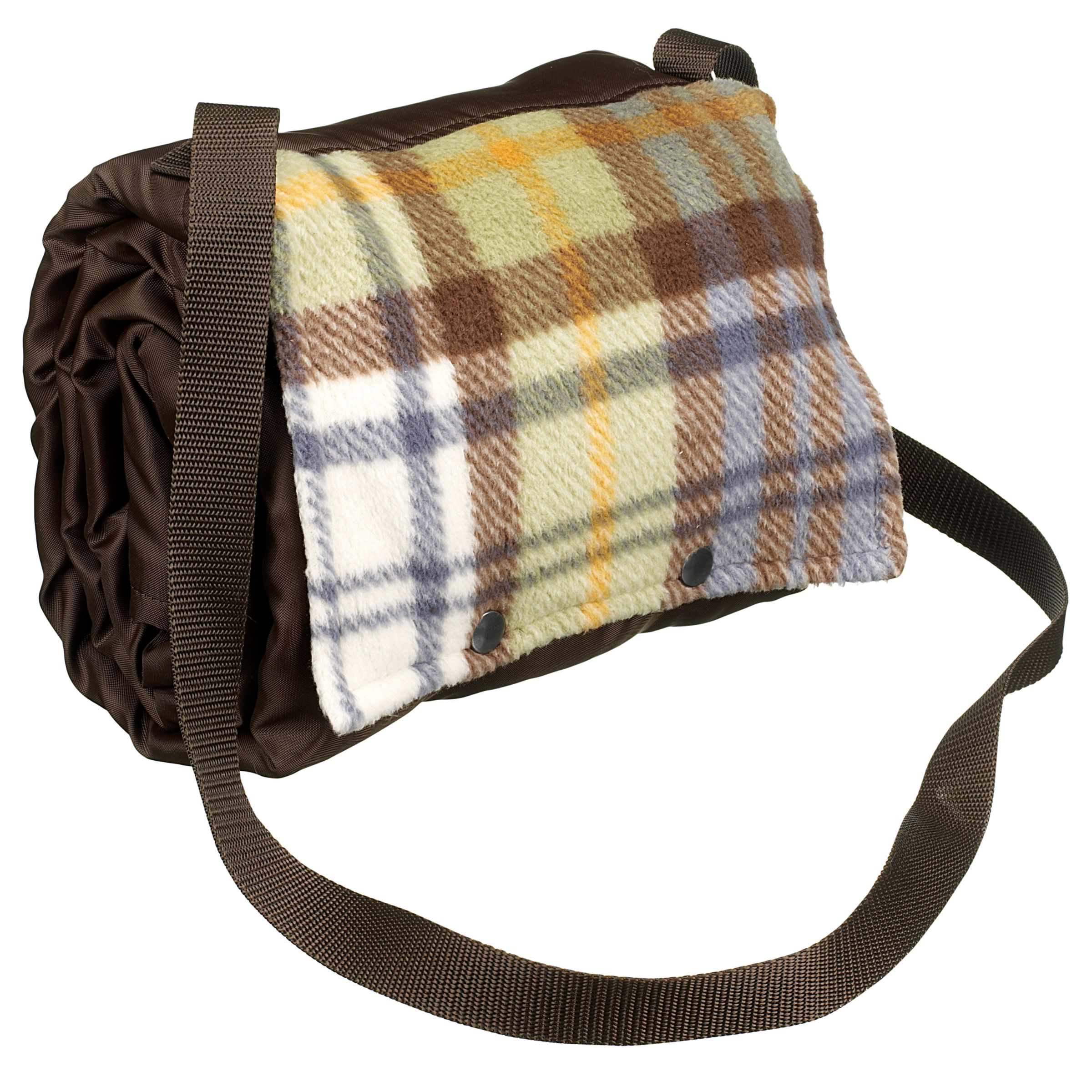 John Lewis Walker Check Picnic Rug, Autumn Check