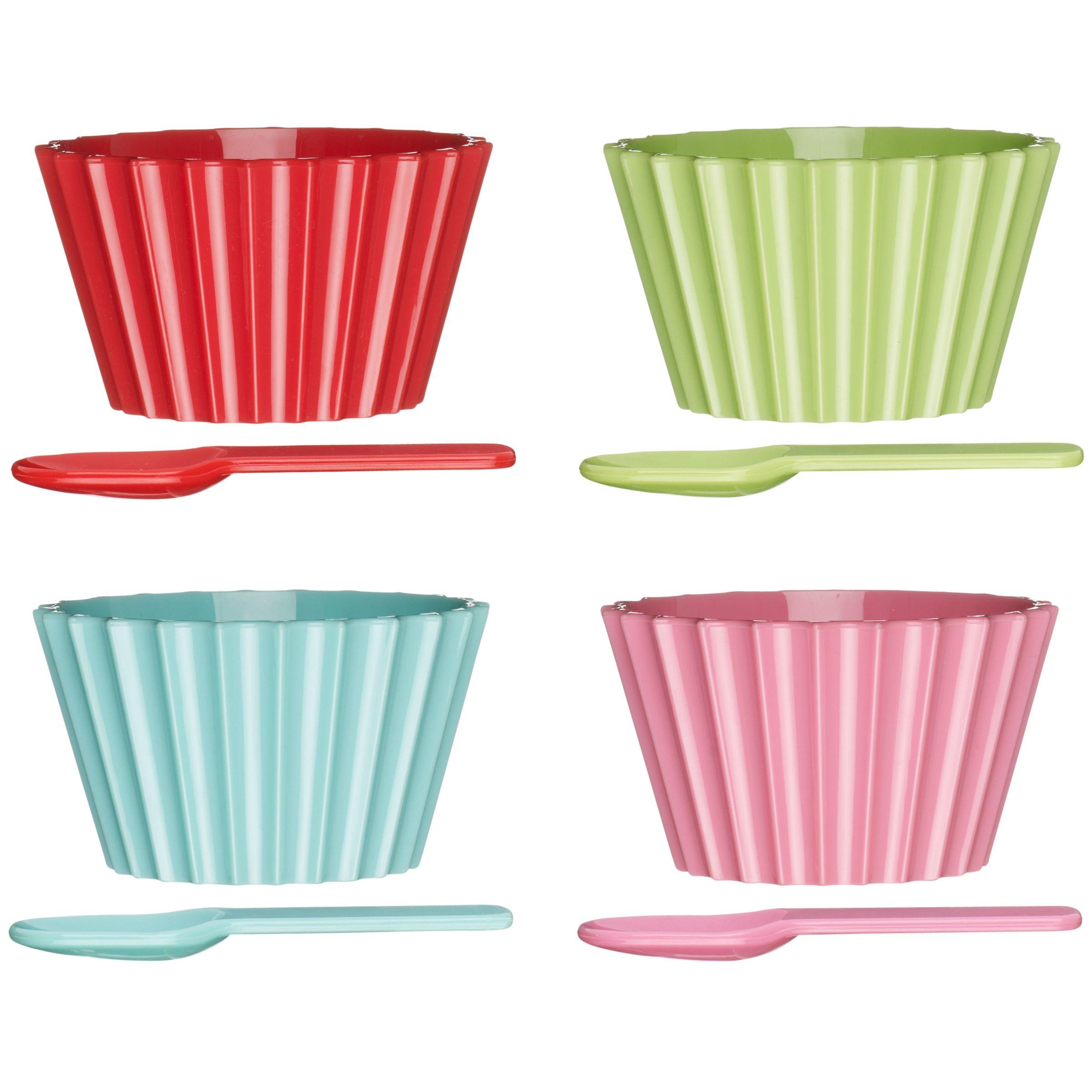 John Lewis Brights Picnic Ice Cream Bowls, Set of 4
