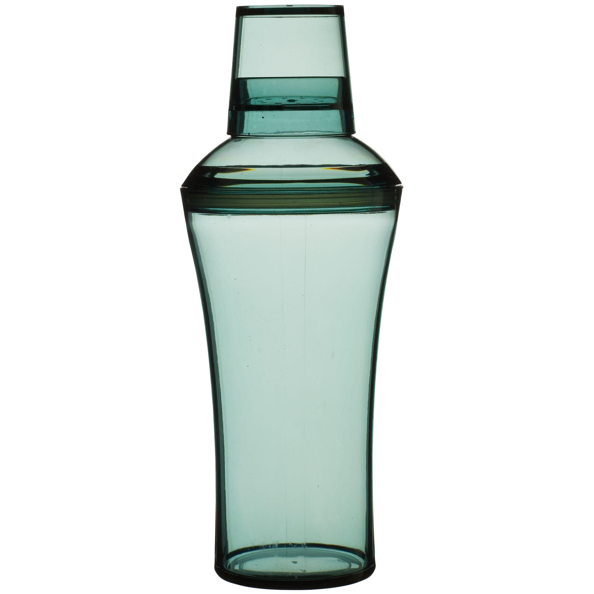 John Lewis Acrylic Cocktail Shaker, Kingfisher