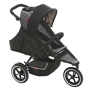 Phil & Teds Dash 3 Wheel Pushchair, Black