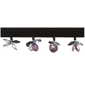 Butterfly Beaded Trim, Purple