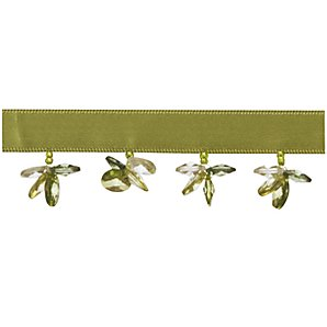Butterfly Beaded Trim, Green