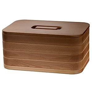 John Lewis Premium Solid Oak Bread Bin