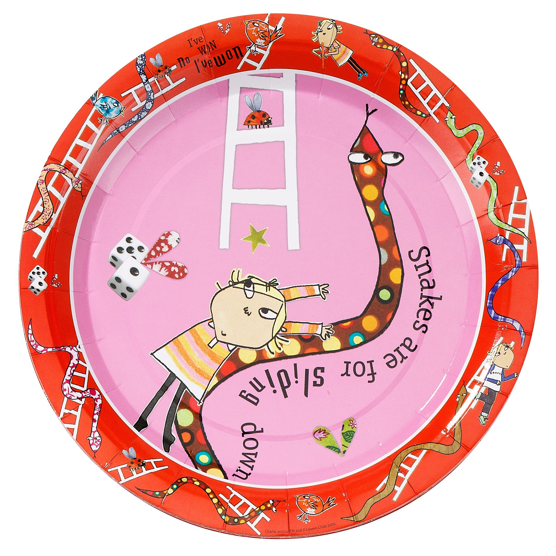 Charlie & Lola Paper Party Plates, 23cm