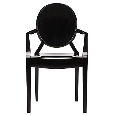 Kartell Louis Ghost Chair in solid black