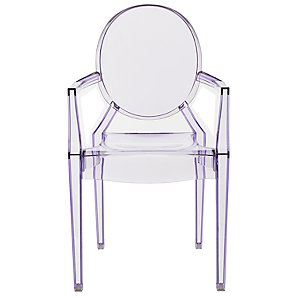 Kartell Lou Lou Ghost Chair in lilac