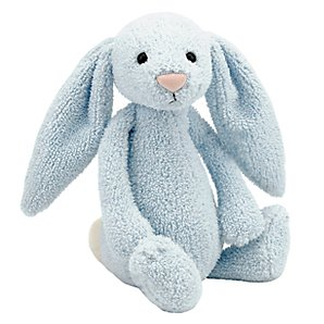 Jellycat Bashful Bunny, Blue, Medium