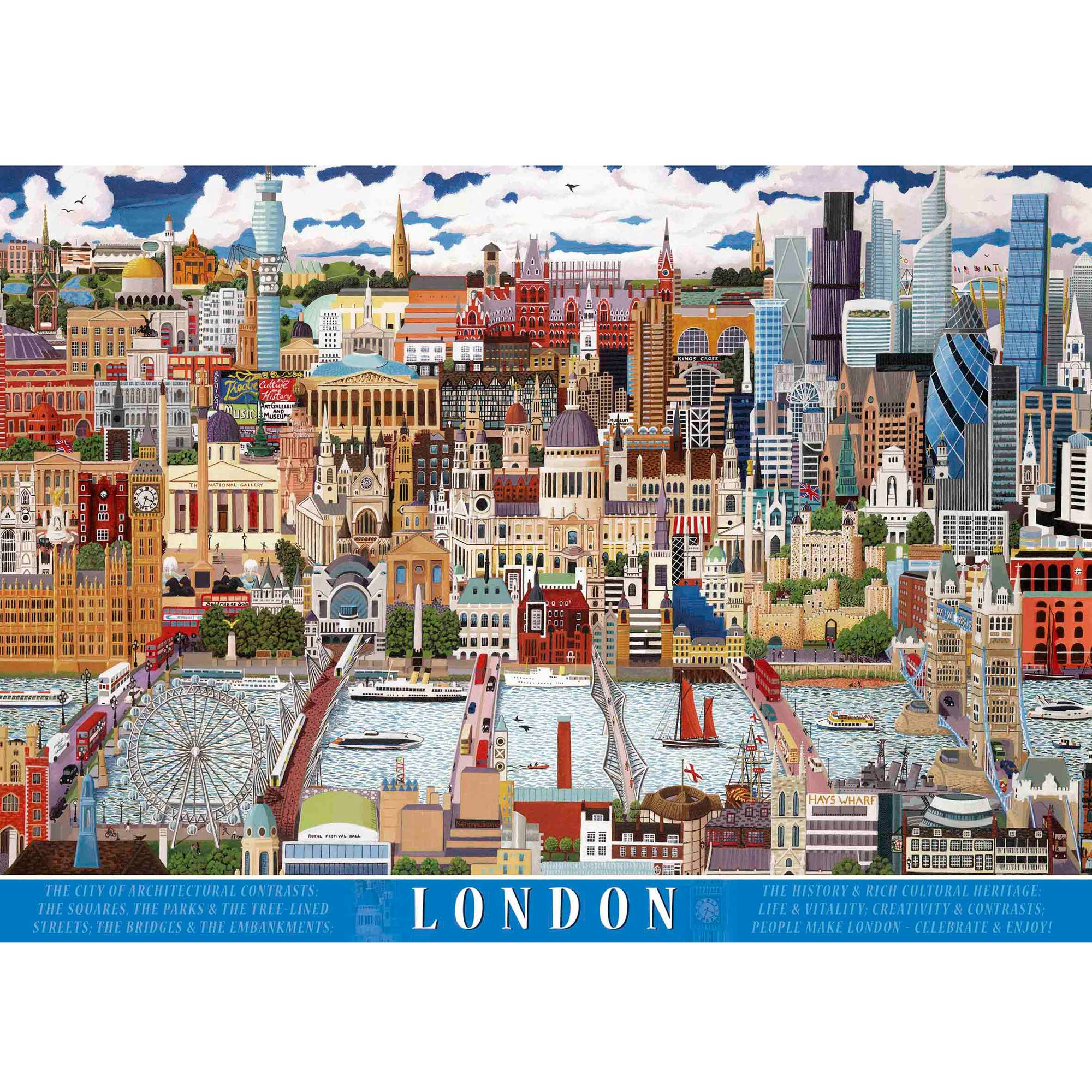 Ravensburger London Skyline Jigsaw Puzzle, 1000 Piece