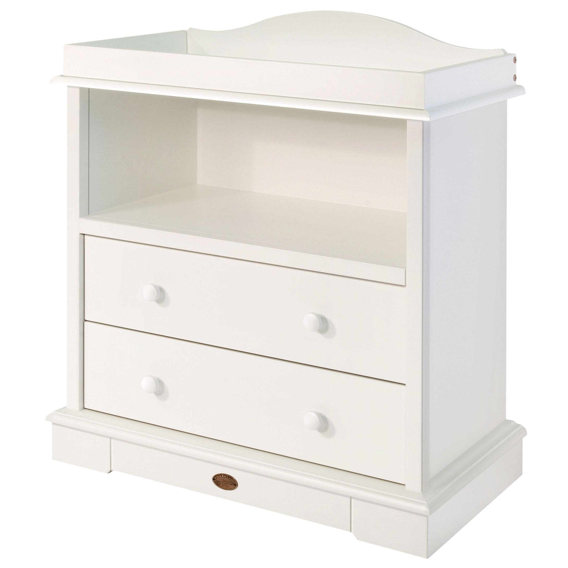 2 Drawer Chest and Changing Unit, White
