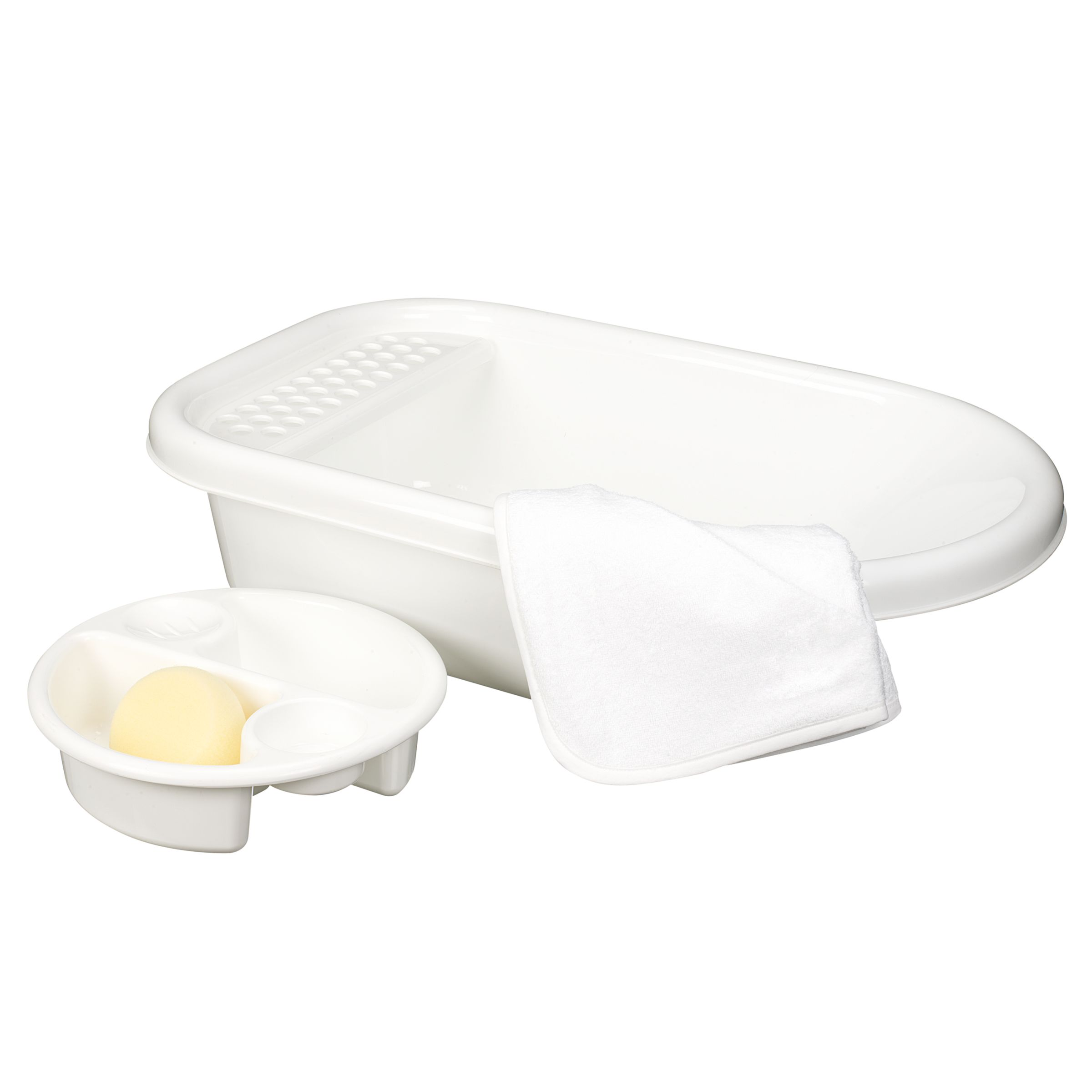 John Lewis Value Bath Set, White