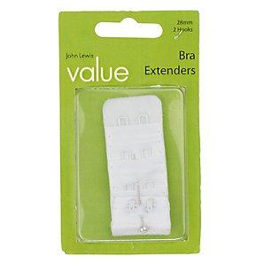 John Lewis Value 28mm Bra Extender, White