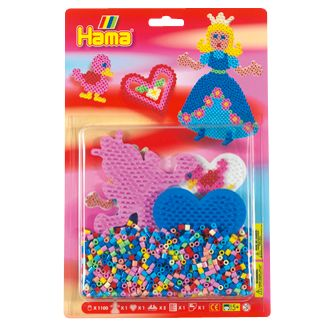 Hama Princess and Heart Set