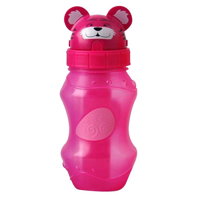 EZ-Freeze Cool Zooey Flip Top Drinks Bottle, Tiger, 350ml