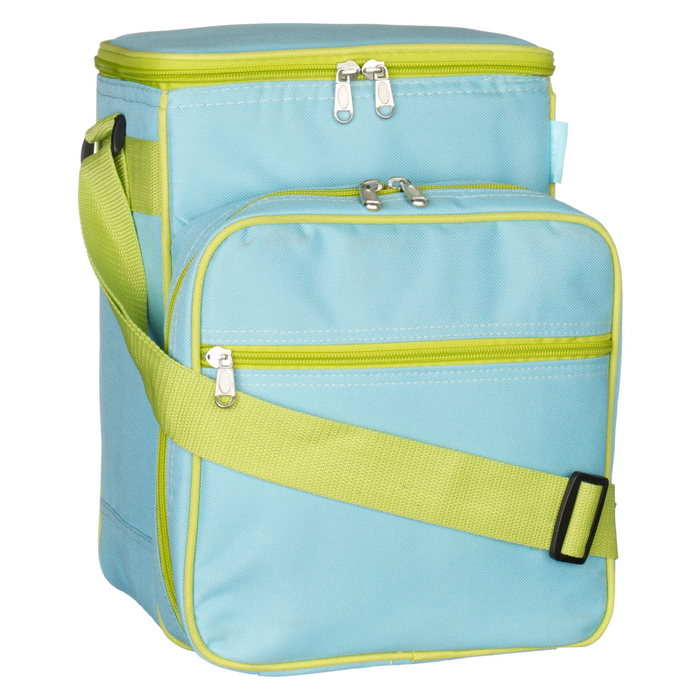 John Lewis 2 Person Picnic Cooler Bag Set, Blue/ Green