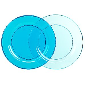 Mozaik Plates, Turquoise, Pack of 6